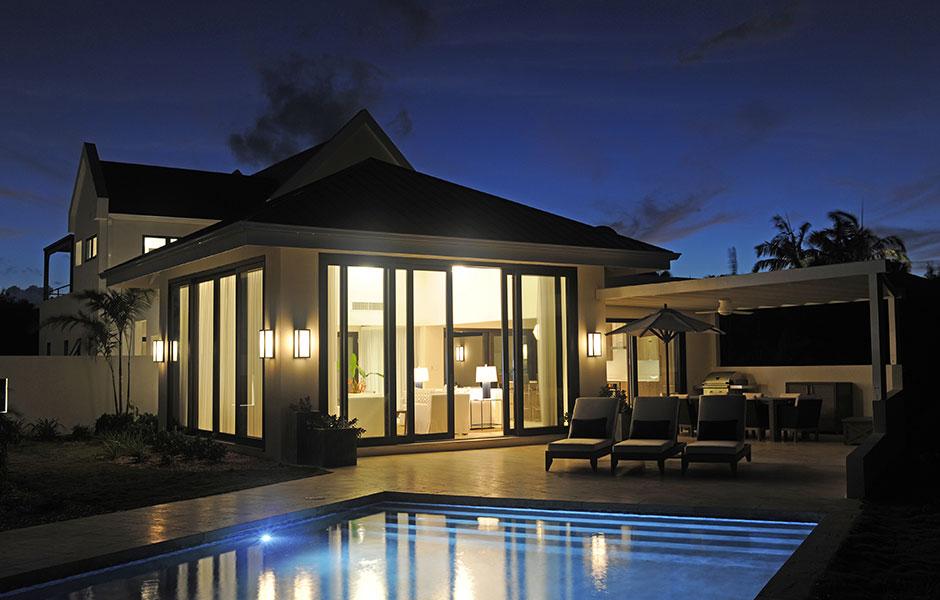Four Season Nevis Estates Property Exterior Pool Night